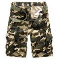 ZOOB MILEY Hombres Causales Shorts Camuflaje Camo Cargo Shorts Nuevo 2016 Hombres de gran tamaño de Algodón Multi-bolsillo Militar Corto pantalones