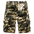 ZOOB MILEY Men Causal Shorts Camo Cargo Camouflage Shorts New 2016 Men large size Multi-pocket Cotton Military Short Pants