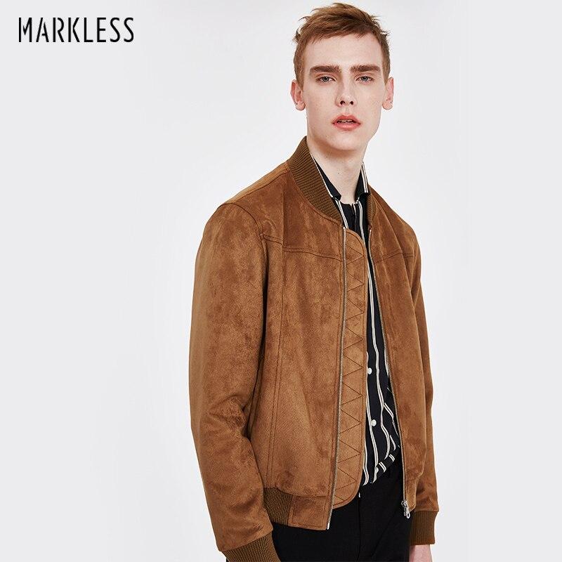 Markless 2018 kurtki pilotki mężczyźni Plus rozmiar M 3XL moda Casual Baseball kołnierz jaqueta masculina chaquetas hombre płaszcz JKA8101M w Kurtki od Odzież męska na  Grupa 1
