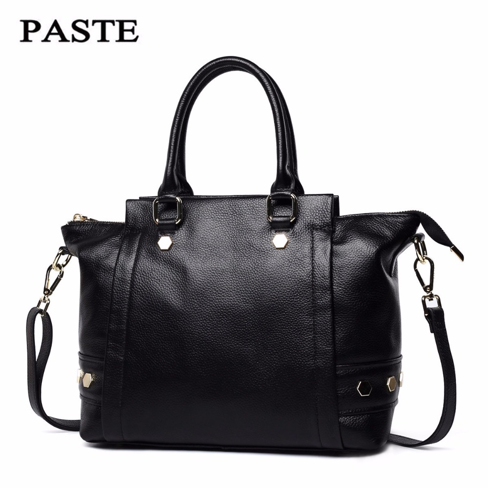 Women Genuine Leather Handbags First layer of cowhide female handbag Messenger bag Woman ladies hand bags European Fold new C321 polo women golf club clothing bag handbag nylon first layer of leather