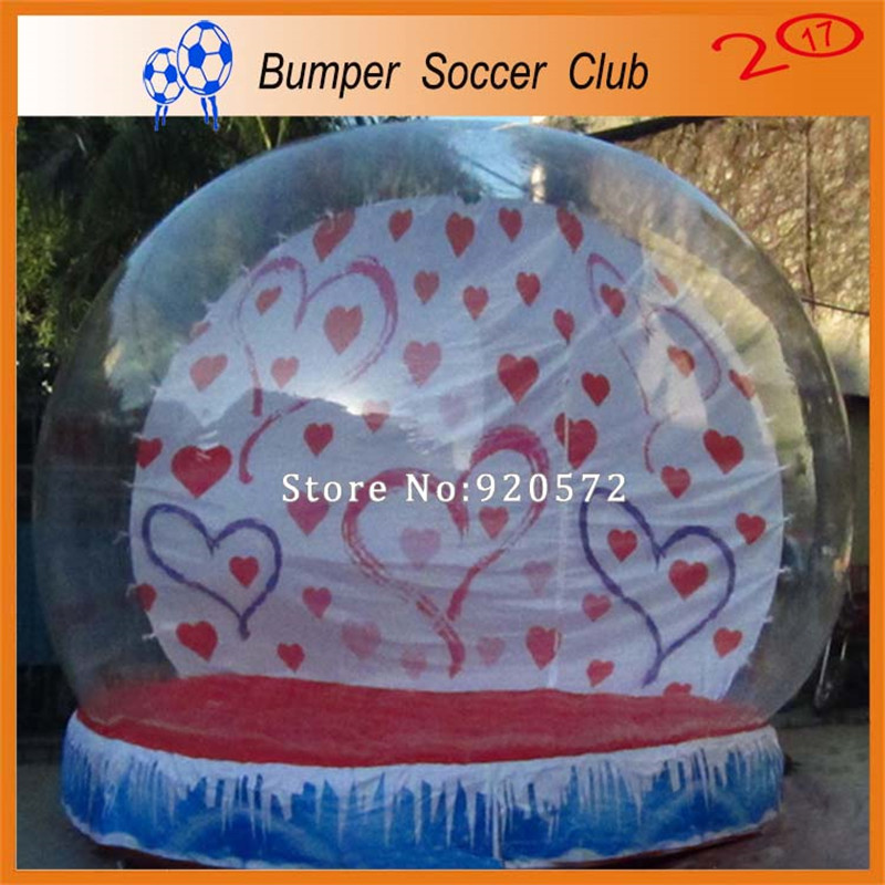 Free Shipping&Pump ! Outdoor 3m Christmas Decoration Inflatable Globe Snow Ball Inflatable Clear Bubble Ball For Advertising free shipping stock giant inflatable snowman outdoor advertising inflatable christmas decoration