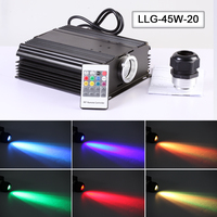 Factory High brightness 45w multi color led optic fiber light source for sky projector lights