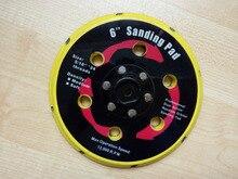 Sin hilo 15 agujeros 2 unids/set 6 pulgadas aire disco de lijado pad, para aire sander con vacío, para 150mm lijadora neumática 6″