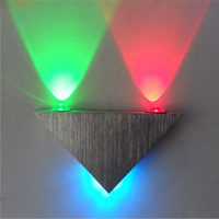 Modern 2LED Convex Lens 3W AC220V LED Wall Light Red Green Blue White Warm White Wall