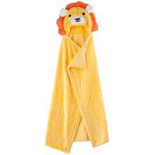 Baby Hooded Bath Towel Cute 0-6 Years old Kids Towel Cartoon Animal Design Soft Coral Velvet Cloak Blanket Bathrobe for Babies
