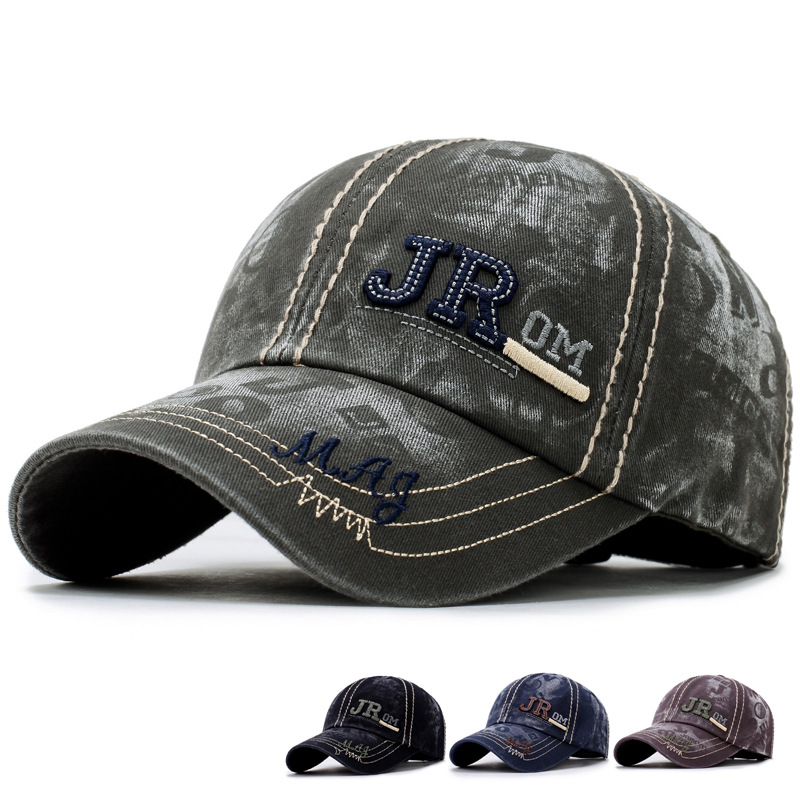 Baseball Cap New Cotton Letter JR Snapback Hats Men Polo Sports Golf Caps Outdoor Casual Travel Baseball Cap Men Women