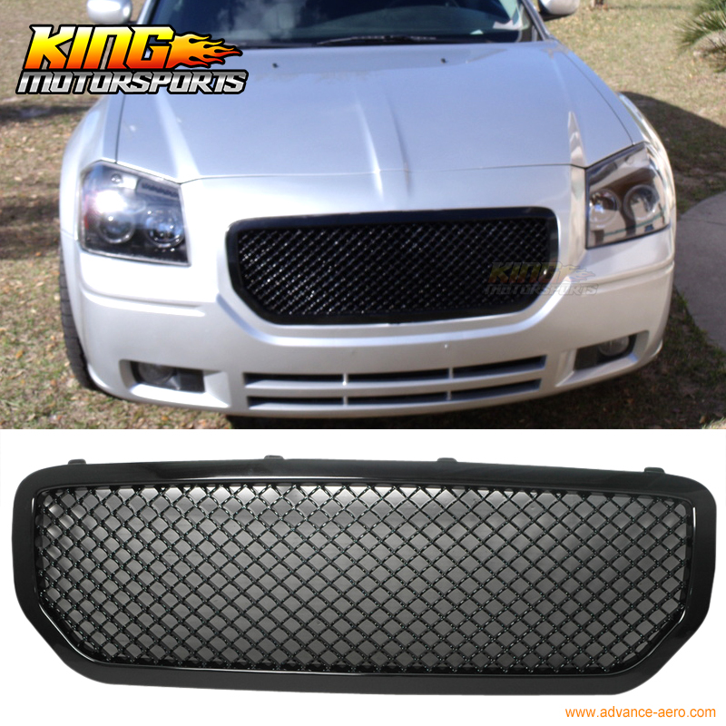 Fits 05 07 Magnum R T SXT Front Black Sports Honeycomb Abs Mesh Grill Grille USA Domestic Free Shipping Hot Selling