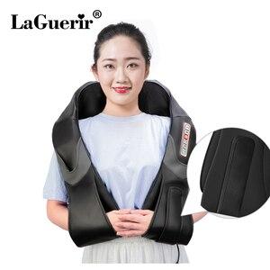 Image 2 - Home Car U Shape Electrical Shiatsu Back Neck Shoulder Body Massager Infrared Heated Kneading Car/Home Massagem