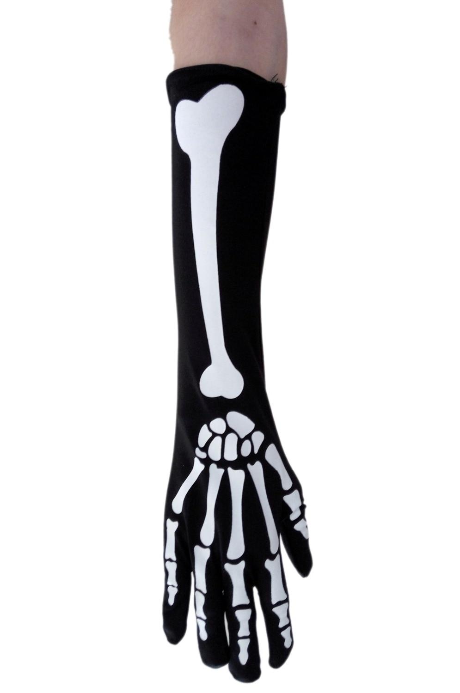 Free Shipping New Fashion Cospaly Halloween Printing Skeleton Gloves Women Gloves 3SB049