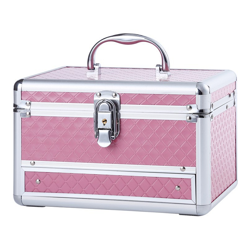 Cosmetic Cases Jewelry-Box Makeup-Organizer Vanity Travel-Beauty Aluminum-Alloy Women