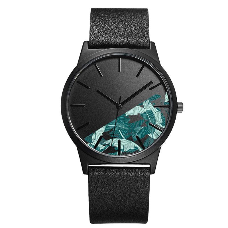 B 9003 Custom Logo Design Unique Watch Genuine Leather ...