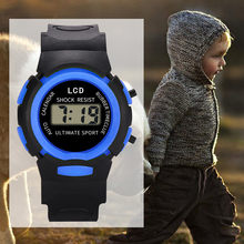 2019 Hot Digital Sport LED Electronic Watch Children Girls Analog Waterproof Wrist Watch New Drop Shopping Reloj infantil W(China)