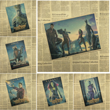 Guardians of the Galaxy 1 Classic Movie Kraft Paper Poster Bar Cafe Living Room Dining room Wall Decorative Paintings