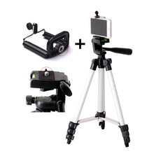 Best price New Tripod Mount Stand Set With Phone Holder Clip For Smartphone Telescopes Digital Go-Pro Camera GDeals