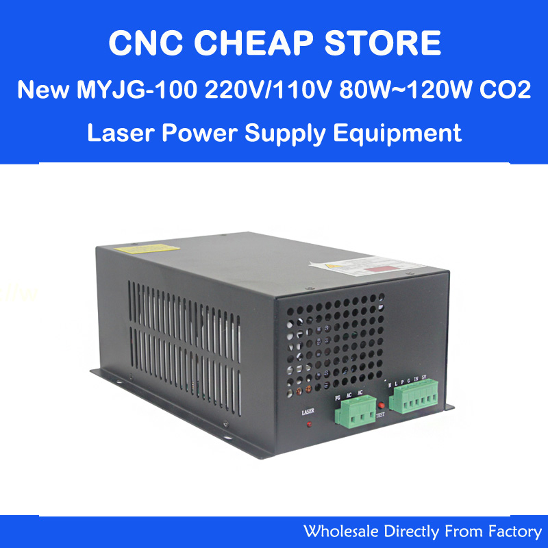 220V/110v MYJG100W CO2 laser power supply 80W 100w 120W Tube PSU for Laser Engraving Cutting Machine Engraver Cutter Equipment reci power supply dy 10 80w 90w z2 w2 co2 laser tube cutting cutter 110v 220v diy part psu laser engraver engraving machine