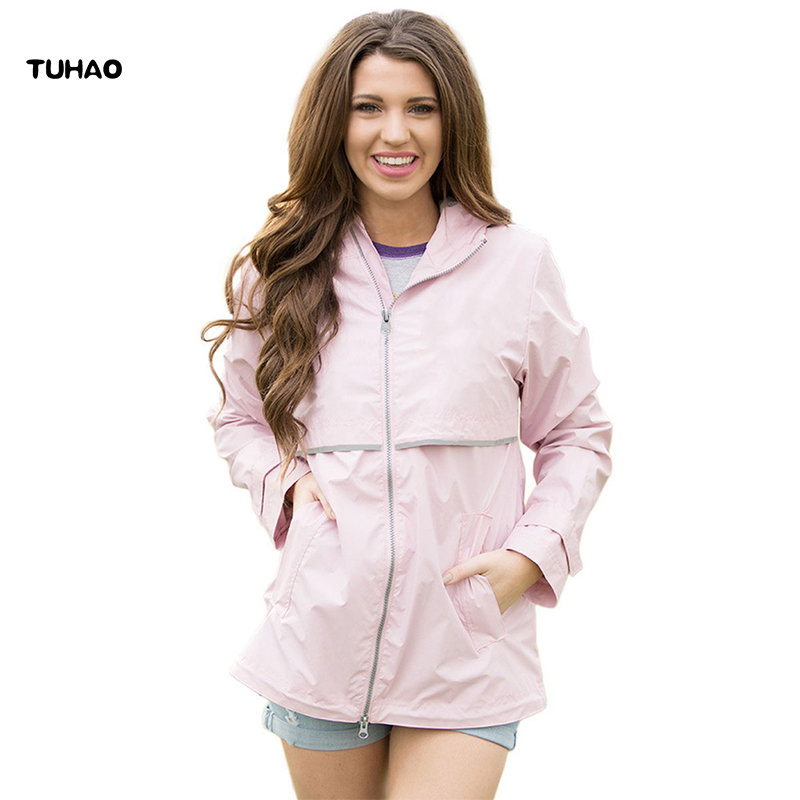 TUHAO WOMEN CLOTHING 2017 autunm winter women   trench   coat casual large size 2XL woman windbreaker solid OL hooded outwear DL62