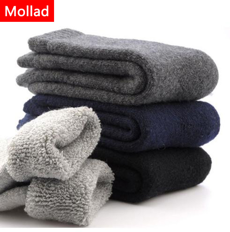 Mollad 2018 Mens Thicken Thermal Wool Cashmere Casual Winter Warm Socks  Super thick
