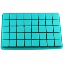 Mujiang 40 Cavities Square Caramel Candy Silicone Molds For Chocolate Truffles Mold Jelly