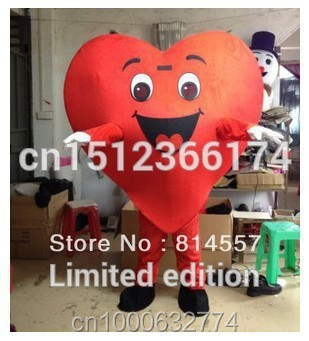 Love Heart cartoon Lovely adult size Cartoon Mascot Costume Fancy Dress Party Suit Free Shipping