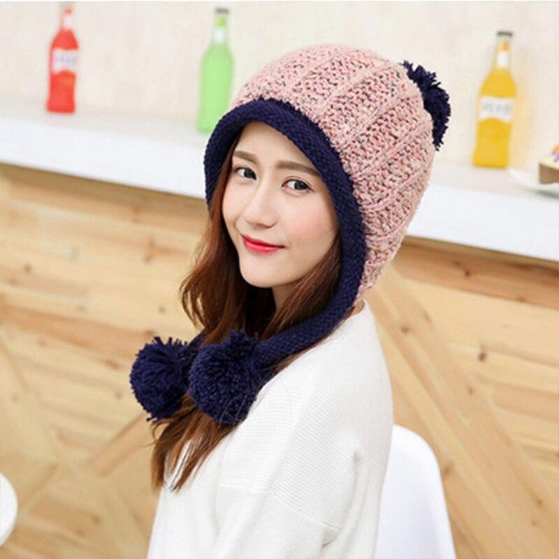 Invierno gorro de lana 100% genuine mink fur sombreros para proteger la las  orejas del frío natural de piel sombreros del casquillo del sombrero  elástico ... 40d0f8be1bd