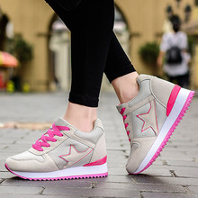 Platform Casual Tenis Feminino High Heel Cheap Women Wedge Valentine Shoe Basket Femme 2016 Female Krasovki Girl Gumshoe YS X107