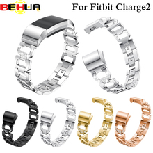 Watch Strap For Fitbit Charge 2 Band With Rhinestone Diamond Smart 195mm Bracelet Charge2 wristband