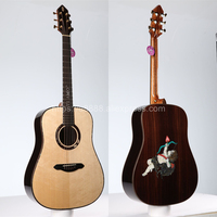 Full Solid Guitar,41 Solid Spruce Top/Rosewood Body(Cupid's Arrow) TA DS40A,Full size guitar with 20mm cotton bag,