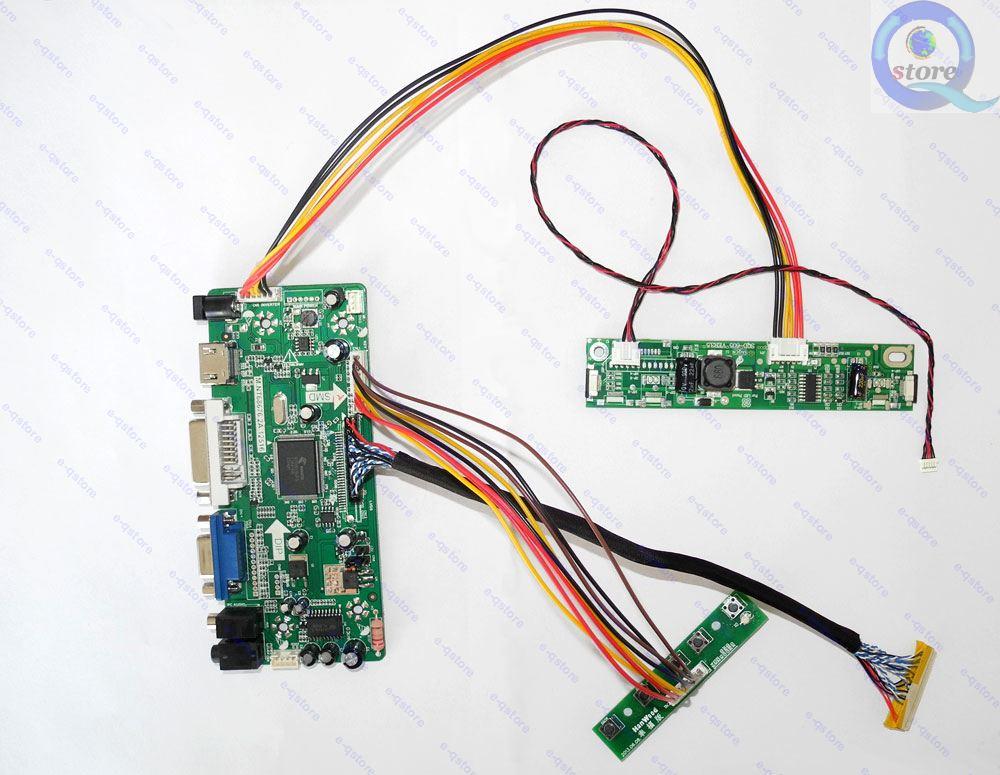HDMI+DVI+VGA SL C1 LCD Lvds Driver Controller Board Diy Kit for Panel LM201W01