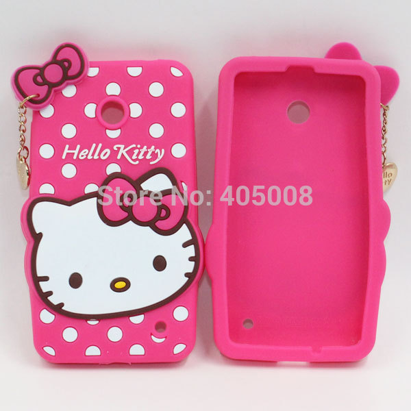 competitive price 741f3 abec5 US $7.9 |3D Cute Hello Kitty Bowknot Cover For Lumia 630 Silicone Luxury  Cartoon Case For Nokia Lumia 630 635 638 Hello Kitty Phone Cases on ...