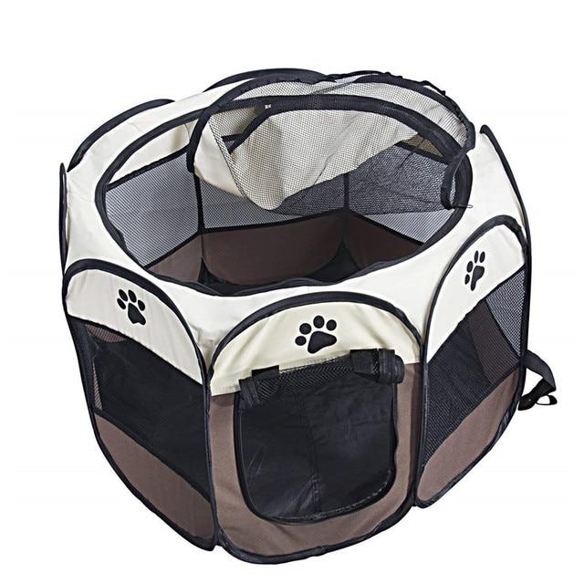 Portatile Pieghevole Pet Tenda Casa Del Cane Gabbia Gabbia Gabbia del Cane Gatto Tenda Box Cucciolo Canile Funzionamento Facile Ottagonale Recinzione Esterna Forniture Per Animali Da Compagnia