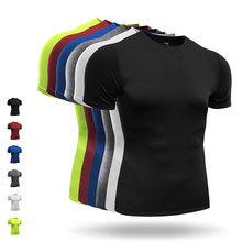 Men's Running T-Shirts Sports Tights Breathable Training Tank Tops Cycling Basketball Running Gym Short Sleeves Shirt Man XXXL