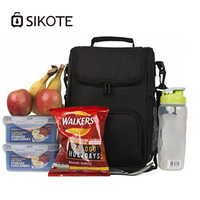 SIKOTE Shoulder Oblique cross Cooler Bags Heat Preservation Lunch Cans Storage Box Portable Cold Warm Insulation 600D Ice Packs