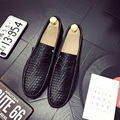 New Brief Weaved Driving Man Shoes Lazy Casual Braid Leather Male Flats Soft Bottom Mens Loafers Solid Color Slip On Breathable