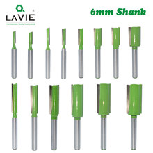 LaVie 1 Buah 6 Mm Shank Lurus Bit Tungsten Carbide Single Double Flute Router Bit Kayu Penggilingan Cutter untuk Kayu alat MC06020(China)