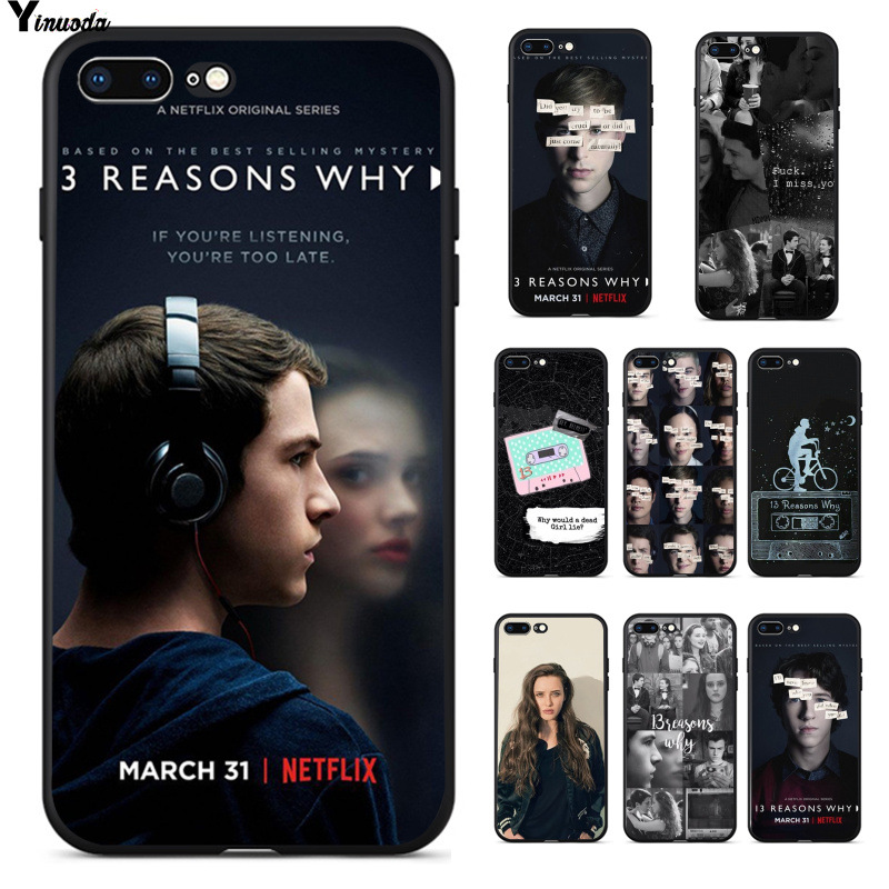 Yinuoda <font><b>13</b></font> Thirteen <font><b>Reasons</b></font> <font><b>Why</b></font> Novelty Fundas <font><b>Phone</b></font> <font><b>Case</b></font> Cover for Apple iPhone 8 7 6 6S Plus X XS MAX 5 5S SE XR Cellphones image