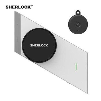 Шерлок беспроводной дверной замок смарт-замок без ключей замок отпечатков пальцев + пароль Встроенный электронный замок Bluetooth управление с ...