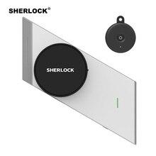 シャーロックワイヤレスドアロックスマートロック指紋 + パスワード統合電子ロック Bluetooth の制御 1Pc キー