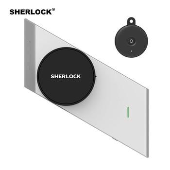 Sherlock Draadloze Deurslot Keyless Smart Lock Vingerafdruk + Wachtwoord Geïntegreerde Elektronische Slot Bluetooth Controle Met 1Pc Sleutel