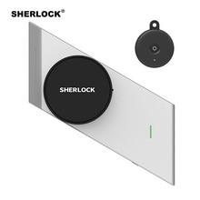 Sherlock bezprzewodowy zamek Keyless inteligentny zamek linii papilarnych + hasło zintegrowany zamek elektroniczny sterowanie bluetooth z 1 przycisk pc