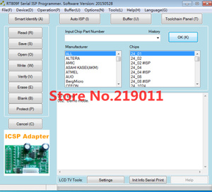Image 4 - Programador RT809F LCD ISP con 8 adaptadores + clip de prueba sop8 + placa ICSP/cable ISP