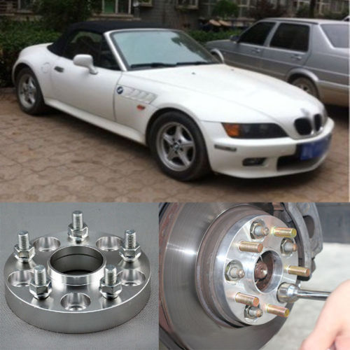Teeze 4pcs New Billet 5 Lug 14*1.5 Studs Wheel Spacers Adapters For BMW Z3 E36 1996-2002 4pcs new billet 5 lug 14 1 5 studs wheel spacers adapters for bmw x5 e70 2007 2013