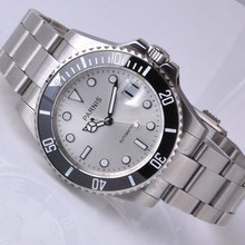 Free shipping 40mm Parnis Ceramic Bezel Luminous Mark Style Automatic Mens Watch PA4001SS