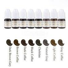 8pcs/lot 8ml Semi-permanent Eyebrow color set Permanent Makeup Pigment Ink Tattoo Color Eyebrow Microblading Pigment