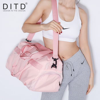 DITD New Dry-wet separation Fitness bag Women's and Men's Travel duffle Large Capacity fashion Sports Bags Popular Shoulder bag