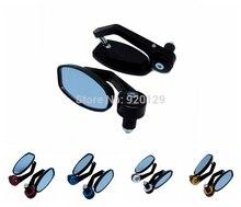 black universal Motorcycle Bar End rearview Mirrors 7/8 For Honda CB CBR CBF XL Rebel XR230 Shadow Valkyrie APE50 VT VTX