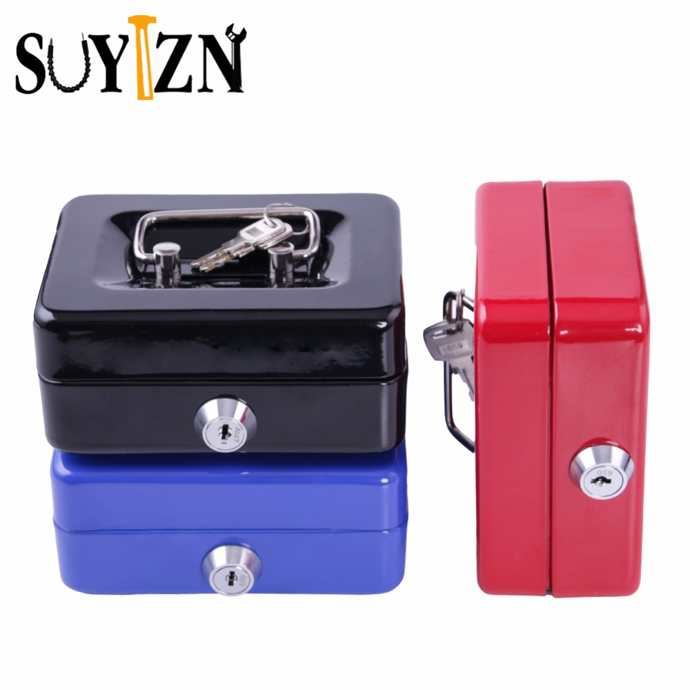 Small Safe Box For Money Coin Piggy Bank Metal Cash Box With Lock Fit For Home Office Top Quality Cofre De Dinheiro ZK41 free shipping mini portable steel petty lock cash safe box for home school office market lockable coin security box
