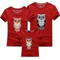 Новинка одежда одежды семьи сова рисунок печать мать отец ребенка детей футболки мать сын наряды мужчины женщин