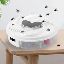 Elektrikli etkili sinek kapanı haşere cihazı böcek yakalayıcı otomatik Flycatcher Fly Trap alıcı eserler böcek tuzak Usb tak