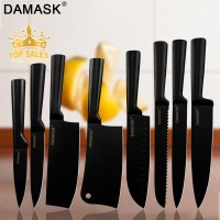 Damask 8 piece Chef Kitchen Knife Set Japanese Stainless Steel Knives Non stick Coating Multi functional Cooking Accessories
