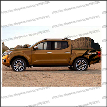 free shipping 2 PC body rear tail side graphic vinyl for NAVARA NP300 2015 sticker